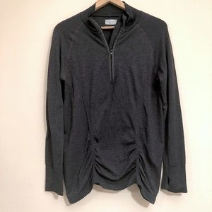 Athleta Fast Track Zip Up Gray Jacket Large